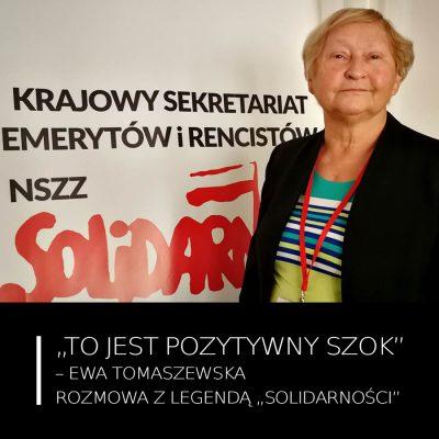 """""""To jest pozytywny szok"""" – Ewa Tomaszewska"""